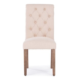 Odelina Button Tufted Upholstered Dining Chair (Set of 2)
