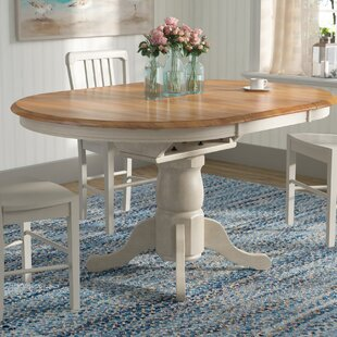 Florentia Extendable Solid Wood Dining Table Beachcrest Home