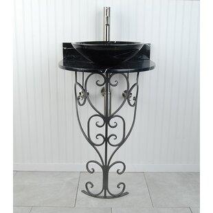 Compare & Buy Monterrey Metal 22 Pedestal Bathroom Sink By D'Vontz