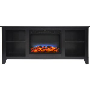 Brook Hollow LED Electric Fireplace TV Stand by Alcott Hill
