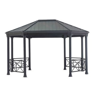 Slater Hardtop Elongated Octagon 15 Ft. W x 12 Ft. D Metal Patio Gazebo by Sunjoy