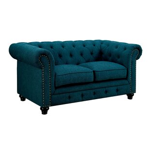 Flounder Chesterfield Loveseat by Darby Home Co