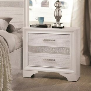 Mercer41 Cecere 2 Drawers Nightstand