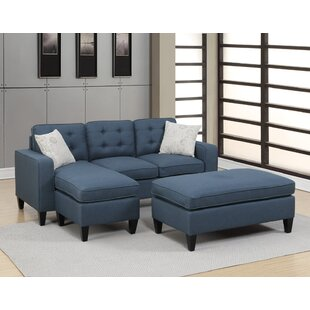 Cray Reversible Sectional with Ottoman