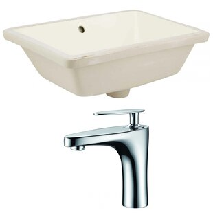 Best Reviews Ceramic Rectangular Undermount Bathroom Sink with Faucet and Overflow By Royal Purple Bath Kitchen