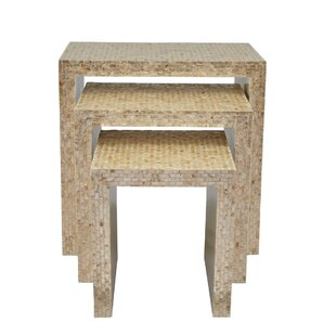 Ault Wooden 3 Piece Nesting Tables by Bungalow Rose