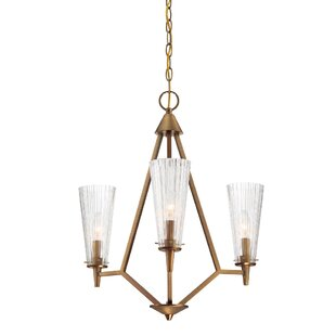 Designers Fountain Montelena 3-Light Shaded Chandelier