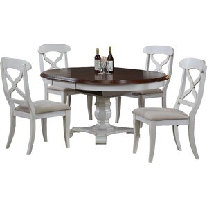 Lockwood Butterfly Leaf 5 Piece Dining Set by Loon Peak