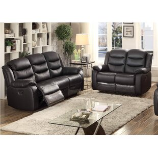 Bennett Reclining 2 Piece Leather Living Room Set by AC Pacific