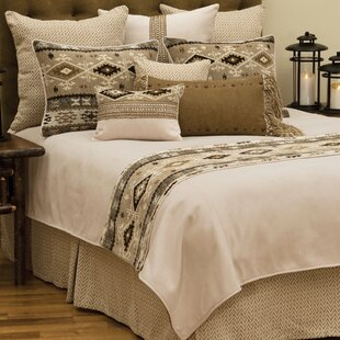 Wooded River Mountain Storm Coverlet