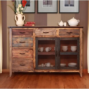 Millwood Pines Stoll 6 Drawer 2 Mesh Door Buffet Table