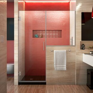 Unidoor Plus 47.5 x 72 Hinged Frameless Shower Door with Clearmax™ Technology by DreamLine