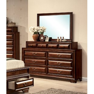 Annalee 10 Drawer Double Dresser with Mirror