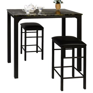 Lillard 3 Piece Breakfast Nook Dining Set by Ebern Designs