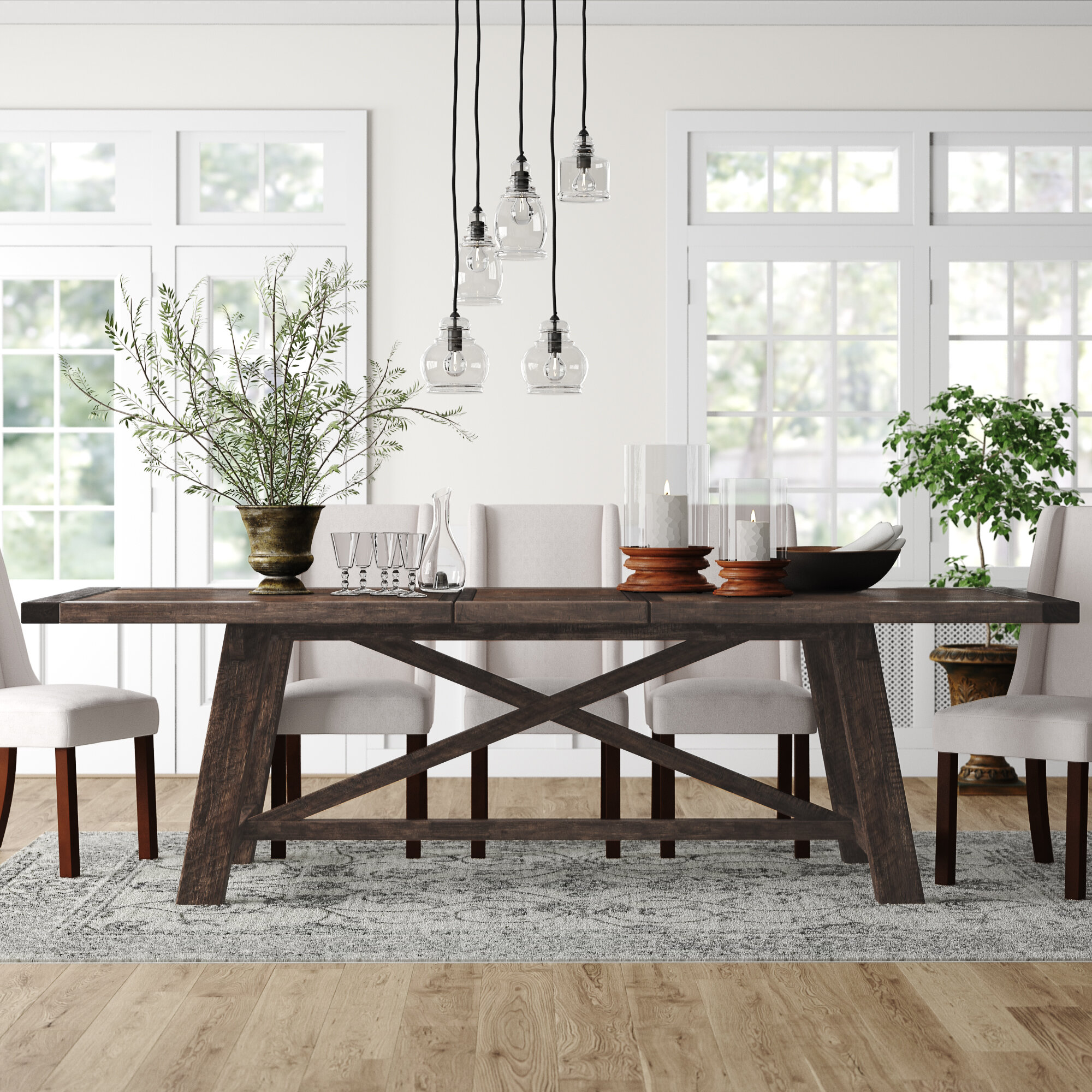 Fahey Trestle Extendable Dining Table Reviews Birch Lane