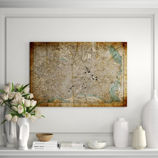 Chelsea Art Studio City Maps Washington D C By Chelsea Art Studio Wrapped Canvas Graphic Art Print Perigold