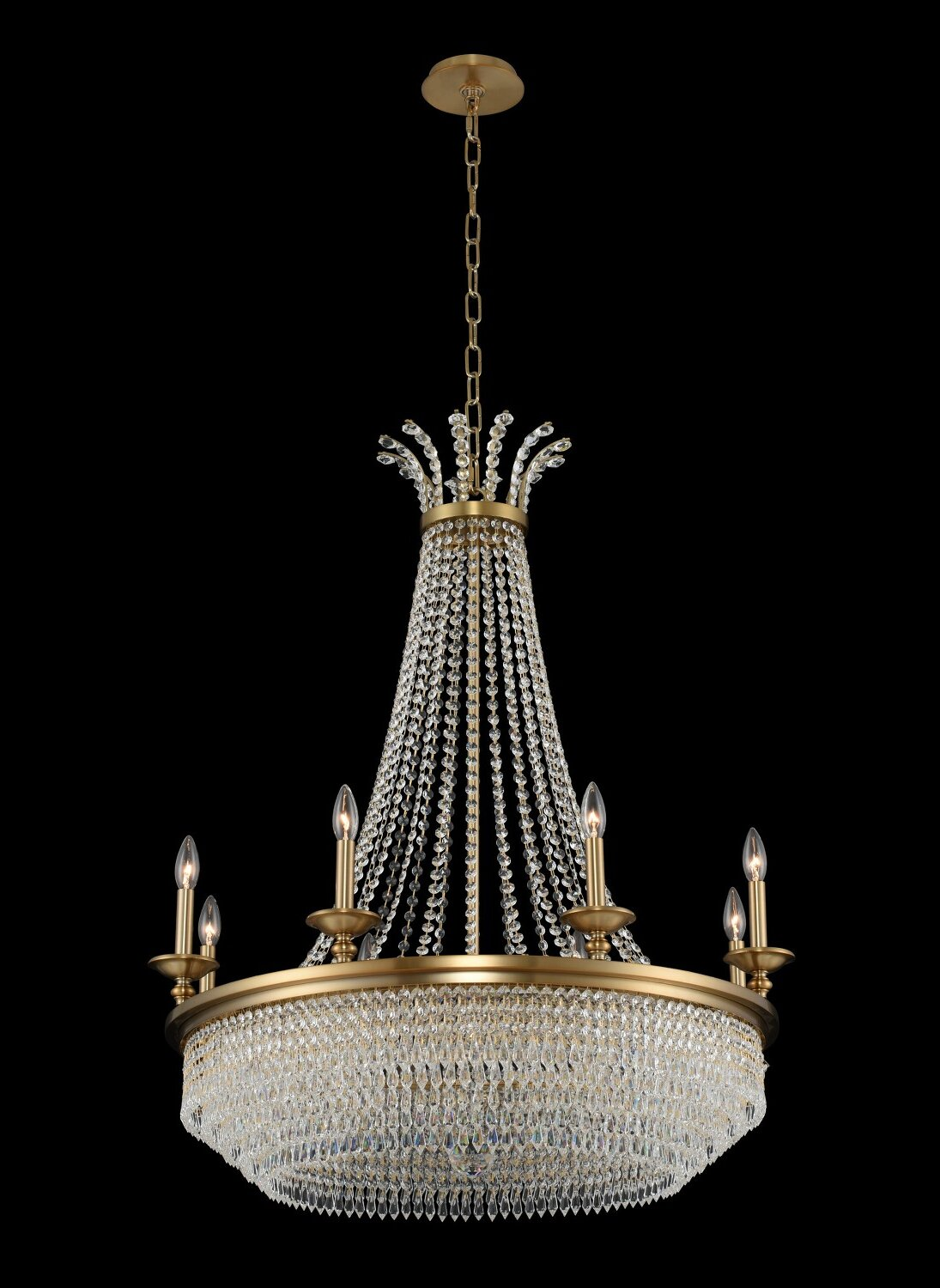 Everly Quinn Glines 12 Light Candle Style Empire Chandelier With Crystal Accents Wayfair