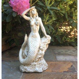 Breakwater Bay Zendejas Classic Mermaid Coastal Statue