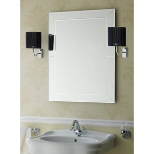 Compare prices Rectangular Bevelled and Engraved Wall Mirror By Stilhaus by Nameeks