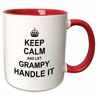 Martucci Keep Calm and Let Grampy Handle It Fun Funny Grandpa Grandfather Gift Coffee Mug