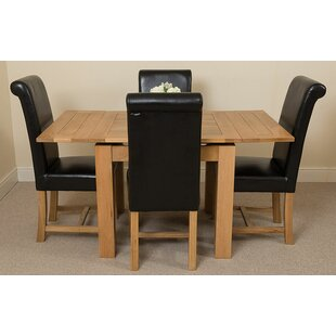 Kenia Dining Set With 4 Chairs By Rosalind Wheeler