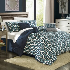 Trenton 7 Piece Reversible Comforter Set