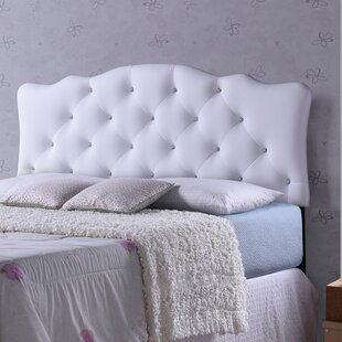 Whidden White Scalloped Full Upholstered Panel Headboard