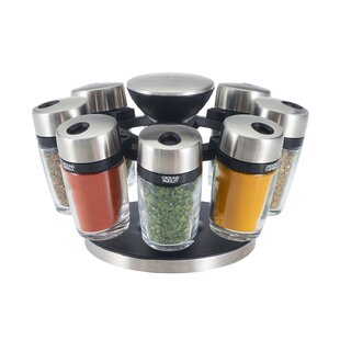 8 Jar Spice Jar & Rack Set (Set of 8)