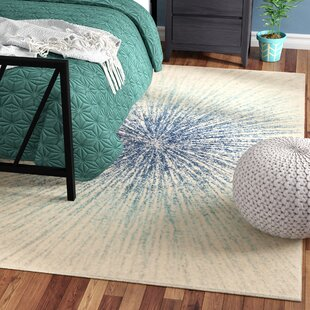 Faustina Cotton Royal/Ivory Indoor Area Rug by Wrought Studio