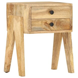Ladd 2 Drawer Bedside Table By Alpen Home
