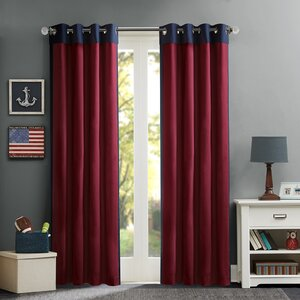 Annabella Solid Blackout Grommet Single Curtain Panel
