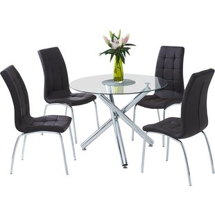 Boulia Dining Set With 4 Chairs By Home Etc