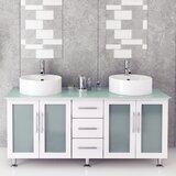 Swearingen 59 Double Vessel Modern Bathroom Vanity by Ebern Designs
