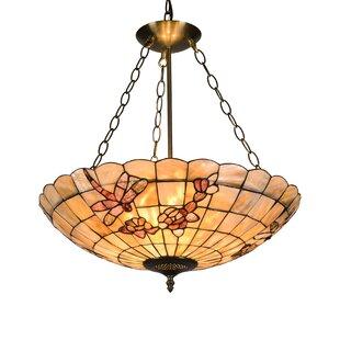 Kidsgrove Mosaic 3-Light Bowl Pendant by Fleur De Lis Living