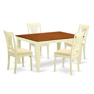 Eastham 5 Piece Dining Set Rosecliff Heights