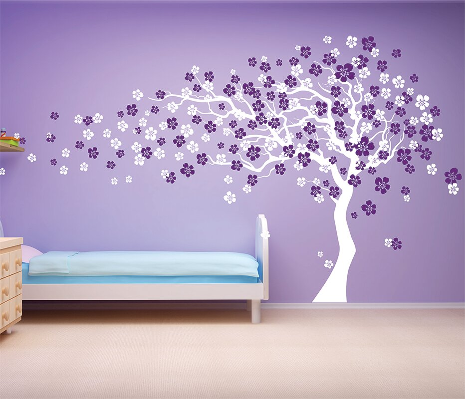 Marvelous Cherry Blossom Tree Wall Decal Great Ideas