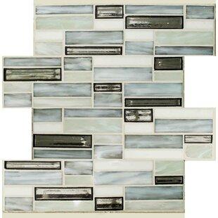 mercury glass tile distressed sparkler mercury glass mosaic tile in grayblue wayfair