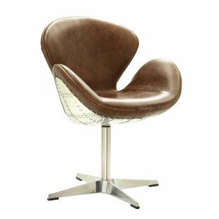 Howard Retro Aluminum Swivel Side Chair by 17 Stories