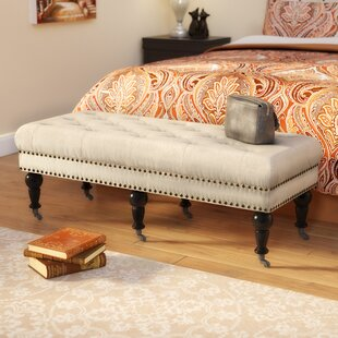Woodard Upholstered Bench Charlton Home