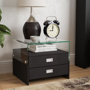 Compare prices Avyan 2 Drawer Nightstand ByWade Logan