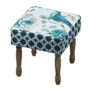 Haywa Bird Motif Stool By Lily Manor