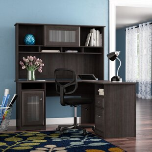 Hillsdale L-Shape Desk with Hutch by Red Barrel Studio