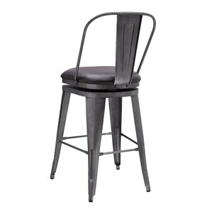 Hardev Metal Framed Swivel Bar Stool by 17 Stories