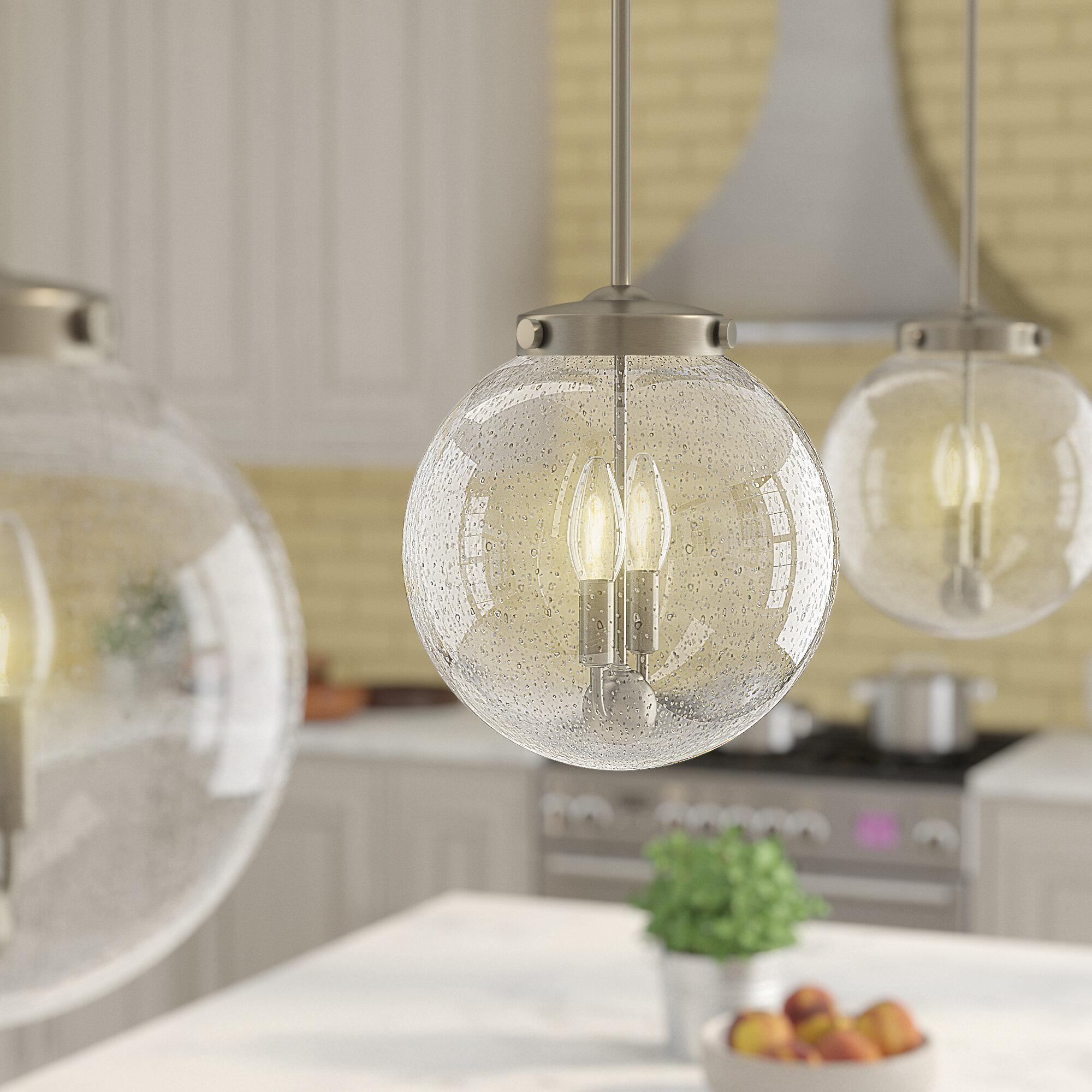 Ebern Designs Adamell 2 Light Single Globe Pendant Reviews Wayfair