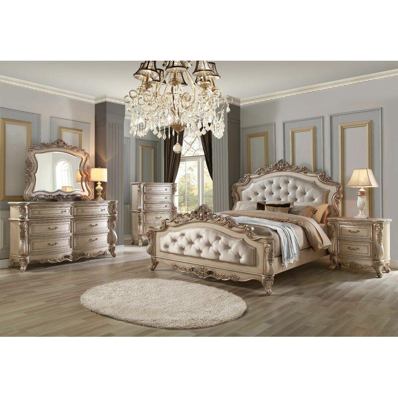 Le Grand 6 Drawer Dresser In Antique White: Astoria Grand Grajeda Standard Configurable Bedroom Set
