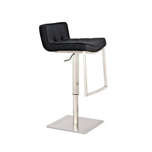 Swampscott Adjustable Height Bar Stool by Latitude Run Cheap