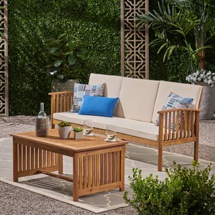 Olympia Outdoor 2 Piece Sofa Seating Group With Cushions by Breakwater Bay Wonderful