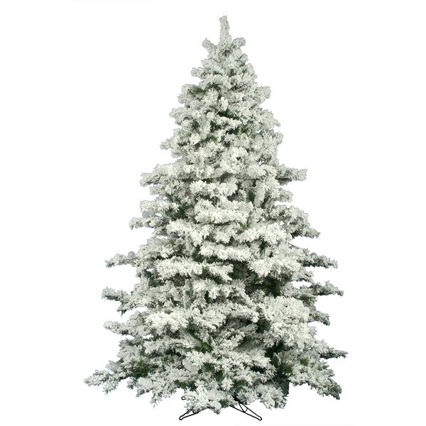 The Holiday Aisle Flocked Alaskan 9' White Pine Artificial Unlit ...