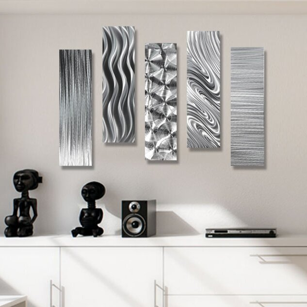 Orren Ellis 5 Piece Modern Metal Wall