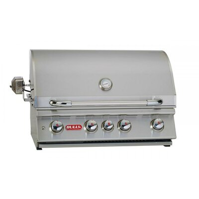 Angus 4-Burner Built-In Propane Gas Grill Bull Outdoor Gas Type: Liquid Propane